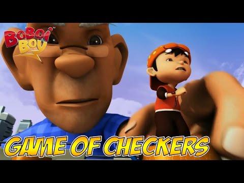 BoBoiBoy (English)  S1E9   Giant Game of Checkers