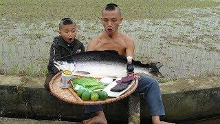 Lần Đầu Ăn Thử Gỏi Cá Hồi - Sốc Tận Não Khi Chấm Mùa Tạt wasabi