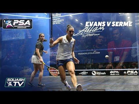 PSA Rewind: Evans v Serme - 2018 British Open - Full Squash Match