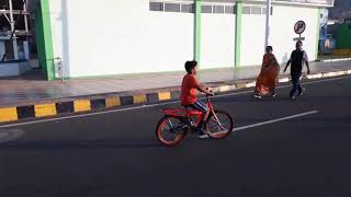 Ravindra First Time Cycling On Road