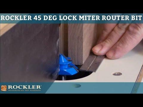 Rockler 45° Lock Miter Router Bits - 1/2'' Shank