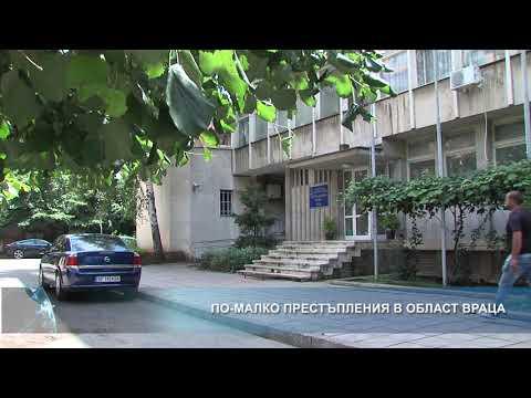 По-малко престъпления в област Враца