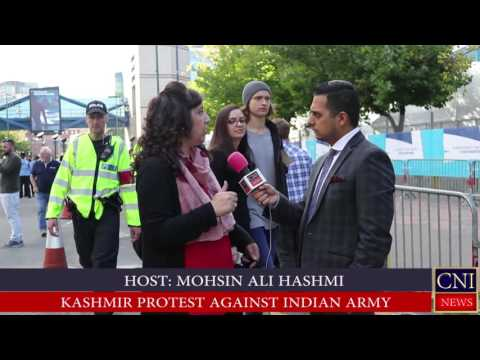 Birmingham:British Kashmiri protest against India's Human Rights Violations in Kashmir