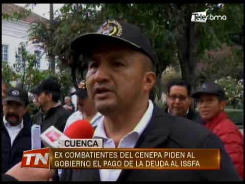 Ex combatientes del Cenepa piden al gobierno el pago de la deuda al ISSFA