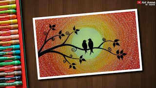 Nonton Easy Love Birds Drawing For Beginners With Oil Pastels   Step By Step Film Subtitle Indonesia Streaming Movie Download