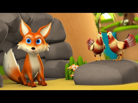 The Honest Fox 3D Animated Hindi Moral Stories for Kids ईमानदार लोमड़ी कहानी Children Tales