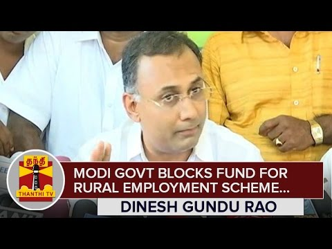 Modi-Government-blocks-Funds-for-Rural-Employment-Scheme--Dinesh-Gundu-Rao-Karnataka-Minister