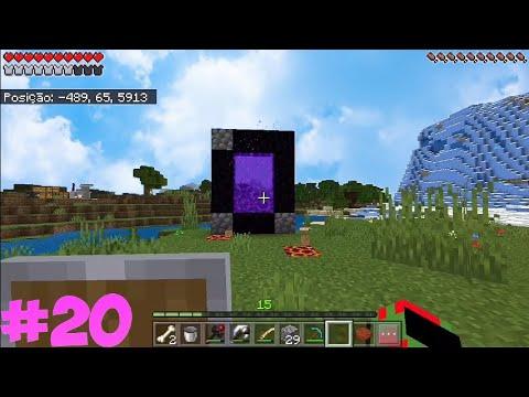 FIZ O PORTAL PARA O NETHER!!MinecraftPE:Serie Com Addon Expansive Fantasy - FantasyPE #20