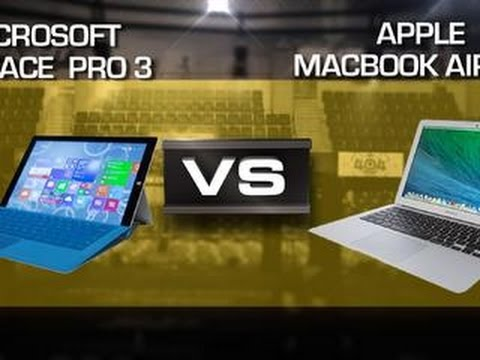 Microsoft Surface Pro 3 vs. MacBook Air 13″ 2014