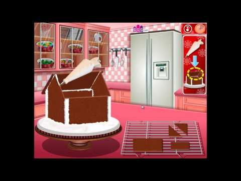 Cooking Game Video-Gingerbread House Sara's Cooking Class