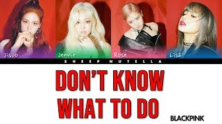 Video BLACKPINK - Don't Know What To Do [Color Coded Lyrics HAN/ROM/ENG] MP3, 3GP, MP4, WEBM, AVI, FLV Juni 2019