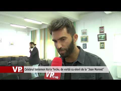 """Celebrul tenismen Horia Tecău, de vorbă cu elevii de la """"Jean Monnet"""""""