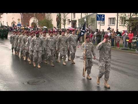 Video: 4.maija Nacionālo bruņoto spēku parāde Valmierā