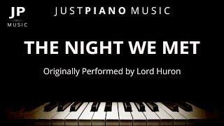 Video The Night We Met (Piano Accompaniment) Lord Huron MP3, 3GP, MP4, WEBM, AVI, FLV Januari 2018
