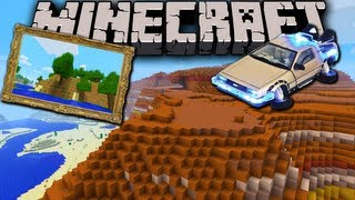 Minecraft: New 1.7 Biomes - Disco Mountains&Time Machine Launcher