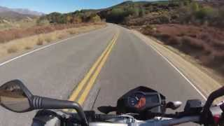 10. 2013 KTM 690 Duke cruising in the canyons....