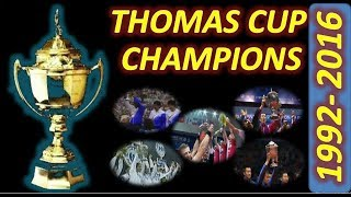 Video Thomas Cup CHAMPIONS 1992 to 2016 MP3, 3GP, MP4, WEBM, AVI, FLV Mei 2018