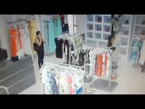 En video fueron registrados ladrones de Boutique en inmediaciones de Multicentro