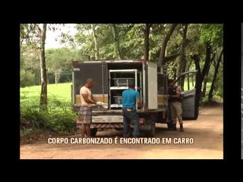 Corpo carbonizado é encontrado dentro de carro em Betim