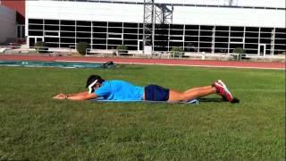 Elevación alternativa de piernas o  batido de crol