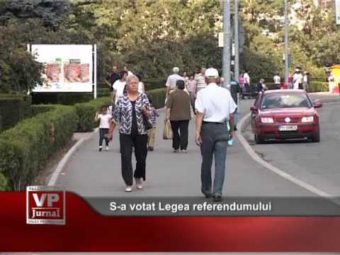 S-a votat Legea referendumului