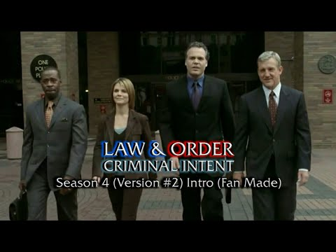 Law & Order: Criminal Intent: Season 4 (Version #2) Intro (Fan Made)