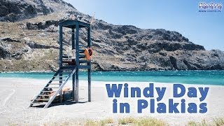 A windy day in Plakias