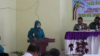 Sambutan Ketua TP PKK Kabupaten Pasaman yang diwakili Ketua DWP Pasaman Ny Masrida Pohan Mara Ondak