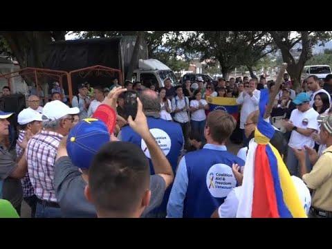 Βενεζουέλα: Aγωνία για να φτάσει η ανθρωπιστική βοήθεια…