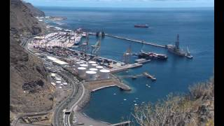 Time Lapse of harbour activities and viewscape north of Santa Cruz de la Tenerife, 26 June 2015