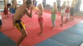 Children Muay Thai Training At Lanta Gym, Koh Lanta
