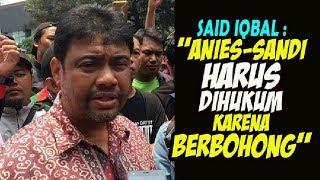 """Video GAWAT....Presiden Buruh MINTA  """"Anies Sandi Harus Dihukum Karena Berbohong"""" MP3, 3GP, MP4, WEBM, AVI, FLV Februari 2018"""