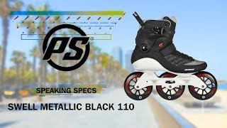 Inlines Powerslide Swell Metalic Black 3x110mm TRINITY