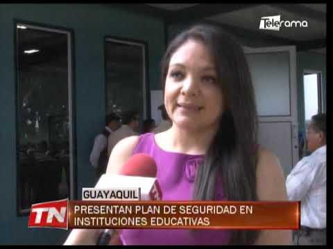 Presentan plan de seguridad en instituciones educativas