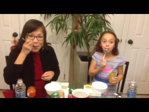 Edie's baby food challenge (видео)