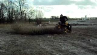 10. 2010 can am renegade 800r efi xxc first day donut tryout