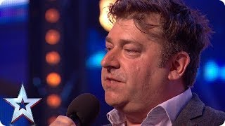 Video Nick Page wins over audience with HILARIOUS act! | Auditions | BGT 2018 MP3, 3GP, MP4, WEBM, AVI, FLV Desember 2018