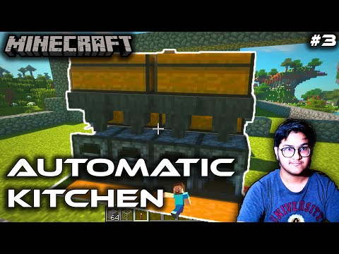 We Made a Automatic Kitchen in Mnecraft - minecraft gameplay in hindi survival - BE A GAMER