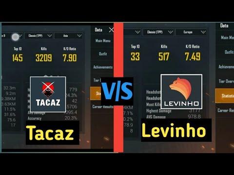 levinho vs tacaz kd ratio   pubg mobile