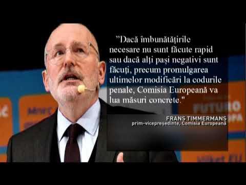 Avertisment dur, transmis de Frans Timmermans la București