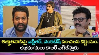 Video Jr NTR And Venkatesh Shocking Comments on Trivikram | Agnathavasi Latest News | YOYO Cine Talkies MP3, 3GP, MP4, WEBM, AVI, FLV Maret 2018