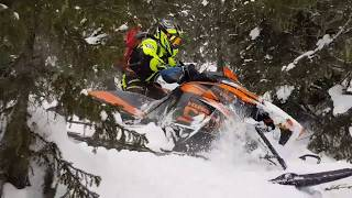 4. Припол�рный Урал. Ре�публика Коми. В горах на горнике Arctic Cat King Cat M9000 turbo. Март 2018г.