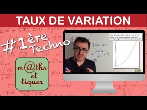 Calculer un taux de variation - Première Techno
