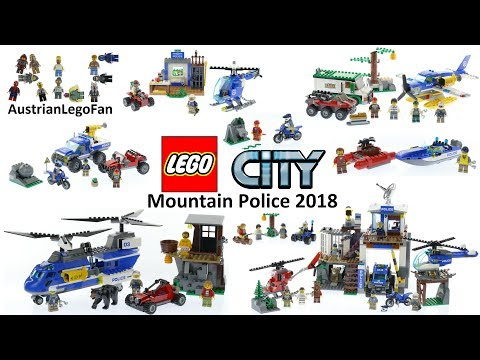 All Lego City Mountain Police Sets 2018 - Lego Speed Build Review
