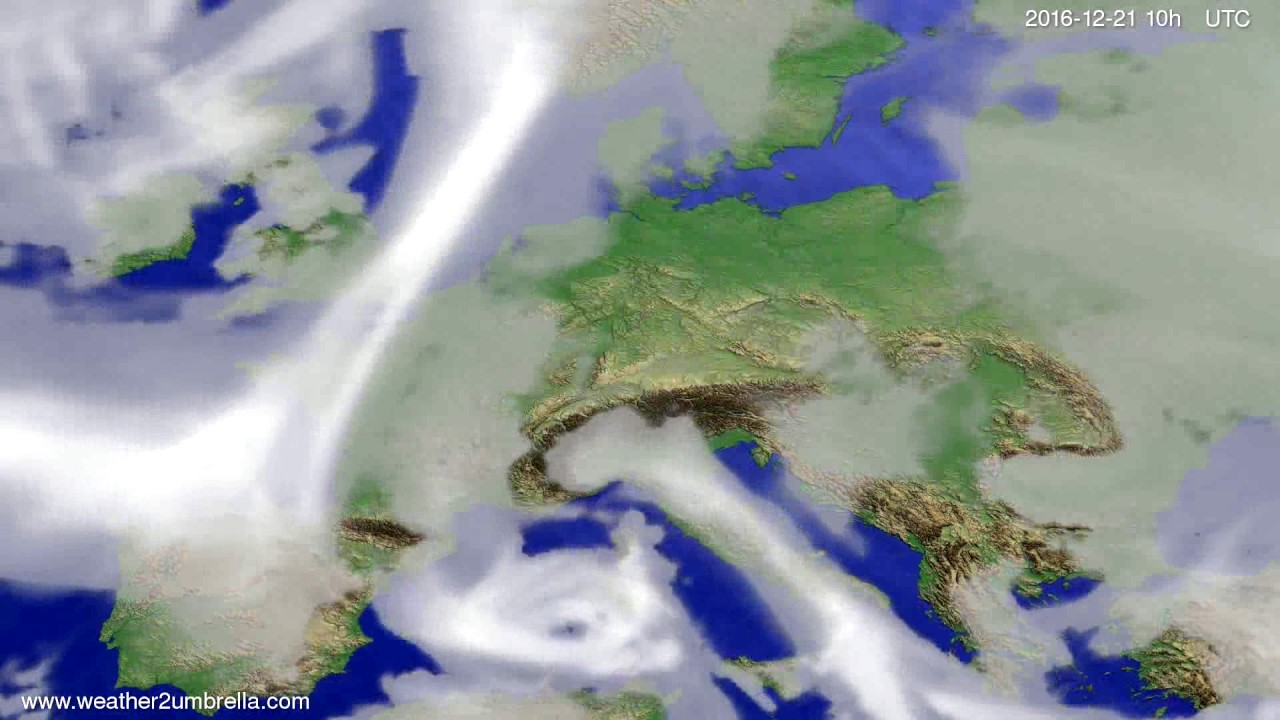 Cloud forecast Europe 2016-12-19
