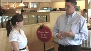 Schaumburg Park District Special Events Supervisor Gwen Strombeck is on location at Sweet Tomatoes, 1951 McConnor Parkway, to talk with General Manager ...
