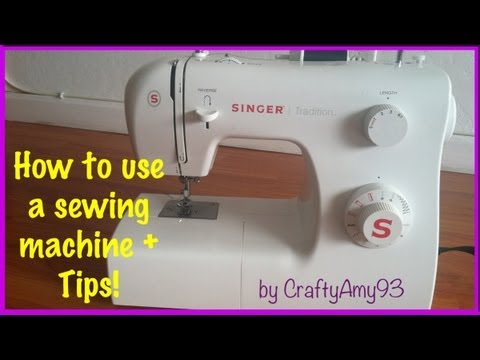 Sewing Machine - all the basics you need to know on how to use a sewing machine! :) READ! little mistake in video, turn the hand wheel towards you not forward I've been sewin...