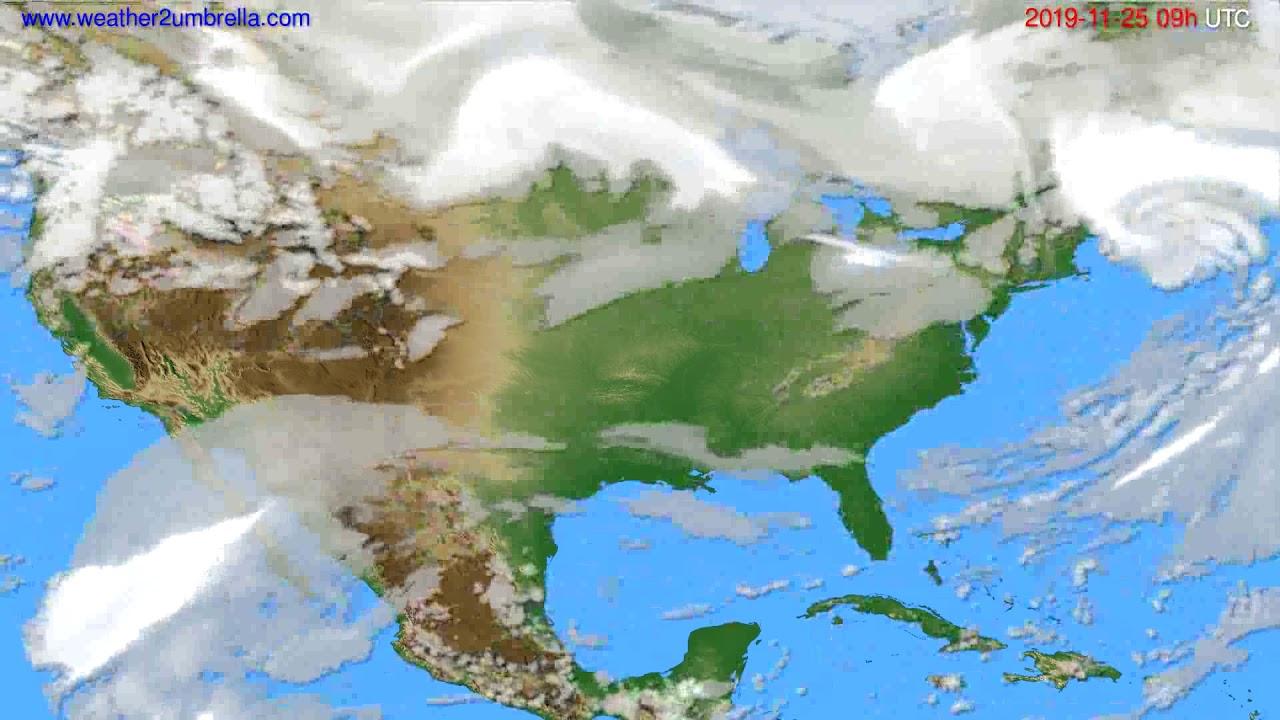 Cloud forecast USA & Canada // modelrun: 00h UTC 2019-11-24