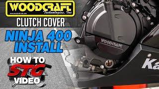 6. Woodcraft Kawasaki Ninja 400 Clutch Cover Install | Sportbiketrackgear.com