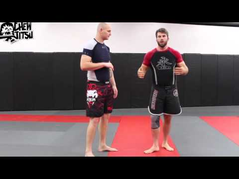 Guillotine Choke Defense Using Front Head Lock Counter From Wrestling